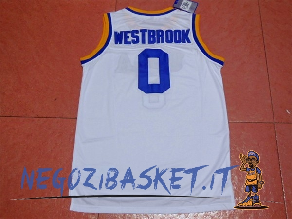 Promo Maglia NCAA UCLA NO.0 Russell Westbrook Bianco
