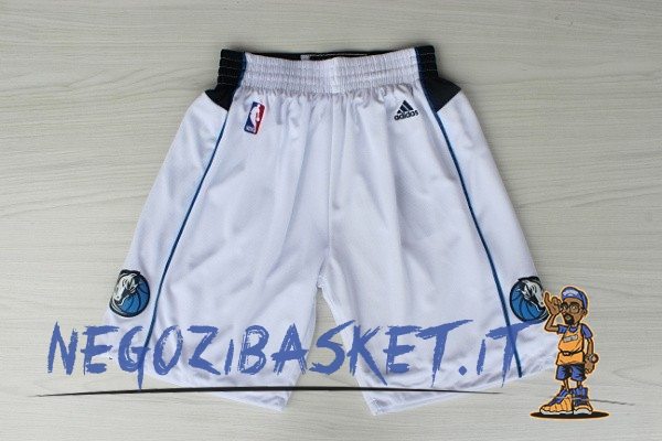 Promo Pantaloni Basket Dallas Mavericks Bianco