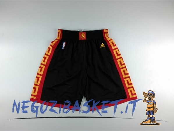 Promo Pantaloni Basket Golden State Warriors Nero Rosso