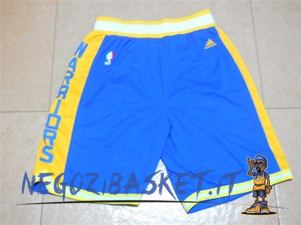 Promo Pantaloni Basket Golden State Warriors Retro Blu