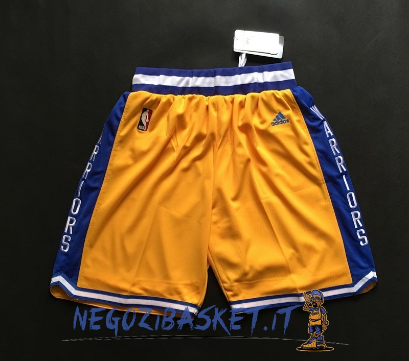 Promo Pantaloni Basket Golden State Warriors Retro Giallo
