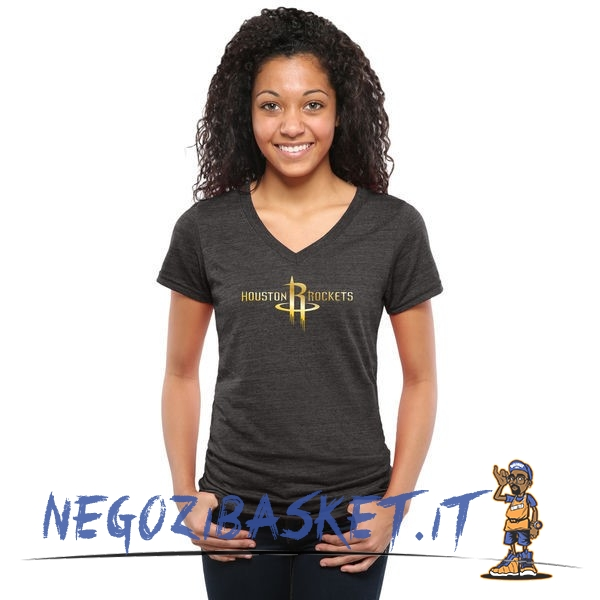 Promo T-Shirt Donna Houston Rockets Nero Oro